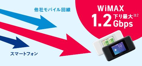 下り最速1.2Gbpsで快適!