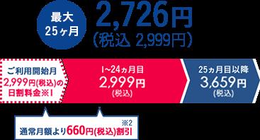 最大24ヶ月 2,726円(税抜)